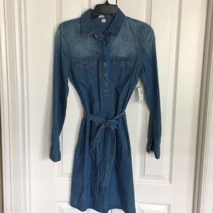 OLD NAVY petite denim jean shirt dress